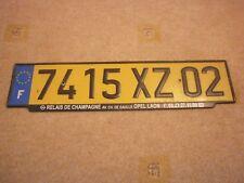 FRANCE AISNE LAON PICARDIE EUROSTARS # 7415 XZ 02 RARE NUMBER LICENSE PLATE