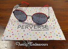 Nwt Perverse Sunglasses Figueroa 01 Rouge 0305 Soleil Licorne W/Duster