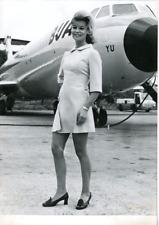 June Rifkin, parfaite hôtesse de l'air Vintage silver Print Tirage argent