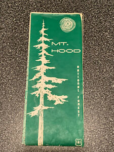 Vintage USDA Forest Service 1967 Mt. Hood National Forest Map
