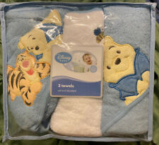 Winnie the Pooh Towels For Baby- 2 Hooded & Towel, Boy. Beautiful Embroidery!