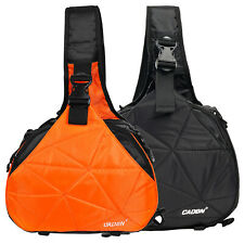 Multifunctional Camera Bag DSLR Shoulder Sling Bags Orange Black For Women & Men