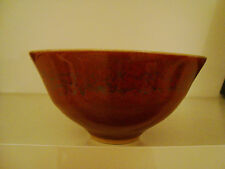 Peter Sparrey Studio Stoneware Bowl Copper Red & Chun Glaze  17/47