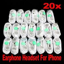 Wholesale 20Pcs Earphone Headphone In-ear Headset with Mic for iPhone Ipod MP3 #