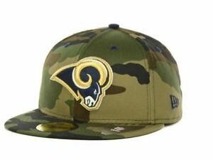 Official St Louis Rams New Era NFL Camo Pop 59FIFTY FItted Hat