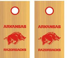 Arkansas Razorbacks Cornhole Set of Decals, Multiple colors, Free Shipping, USA