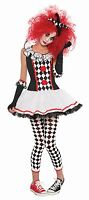 Harlequin Honey Sexy Jester Clown Halloween Fancy Dress Costume Teen & Adult