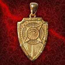 Talisman Amulet Shield Archangel Michael Gold plated