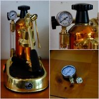 PRESSURE GAGE / ADAPTER SET FOR LA PAVONI EUROPICCOLA BRASS / STAINLESS