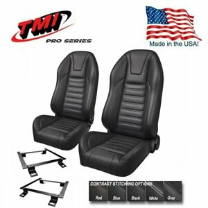 TMI Pro Series - Highback Bucket Seats & Brackets for 1971 - 1973 Mustang