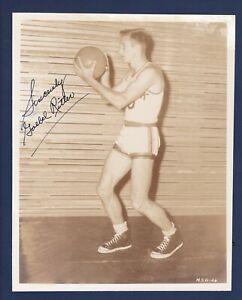 "Goebel ""Tex"" Ritter signed vintage N.Y. Knicks team issued basketball photo -Jsa"