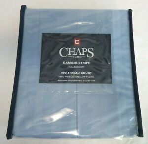 Chaps Home Damask Stripe Full Bedskirt 500 Thread Count New in Package