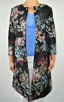 New Ted Baker Honibea Coat Dress Jacket Floral Black Wedding Guest Size 4 14 BA