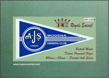 Royale Scooter Antenna Pennant Flag AJS MODENA OWNERS CLUB Mod Blue FP1.1137B