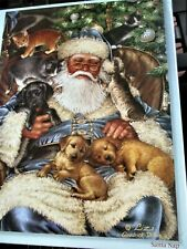 "New 300 Piece Liz G. Dillon Art Puzzle ""Santa Nap"" Large Format 18x24"