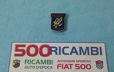 FIAT 500 F/L/R LOGO FRANCIS LOMBARDI STEMMA CROMATO MUSO ANTERIORE O CRUSCOTTO