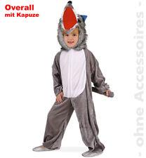 Wolf Kostüm Wolfoverall Overall Kinder Bestie Hund Kinderkostüm