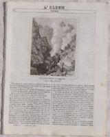 ALBUM DI ROMA VULCANO GUADALUPA PALERMO SICILIA 1843