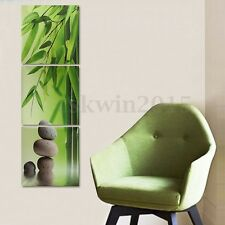 3Pcs Zen Bamboo Stone HD Picture Canvas Painting Modern Art Wall Decor Unframed