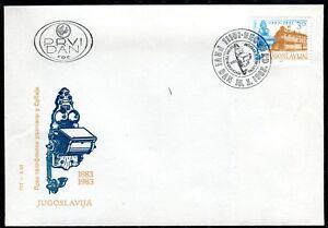 1975b - Yugoslavia 1983 - Telephone Service - FDC