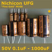 "Nichicon UFG FG ""Fine Gold"" MUSE High Grade for Audio [50V] Capacitors"