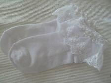 Socken Spitze Weiß 100% Baumwolle Neu One Size
