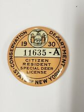 1930 New York Conservation Department License, Resident Special Deer License
