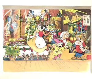 Vtg Disney Snow White & Seven Dwarfs 3D Pop Up Christmas Advent Calendar 70s 80s