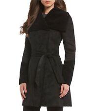 NWT ! Antonio Melani Faux Suede Wool Belted Wrap Coat Jacket Womens Size 4