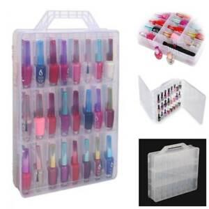 48 Lattice Nail Polish Holder Display Rack Container Case Organizer Storage Box