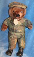Plush Army Bear in Camouflaged Outfit