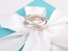 Tiffany & Co Silver Triple Interlocking Ring Size 5.5 Pouch Included