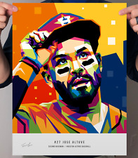 "Jose Altuve Houston Astros Baseball POP Art Print Poster 12"" x 16"""
