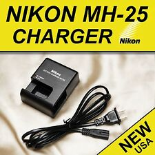 MH-25 Battery Charger For Nikon D600 D610 D750 D800 D810 D7000 D7100 V1