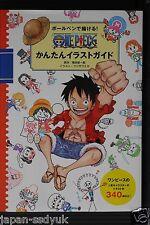 JAPAN Ballpoint pen de Kakeru! One Piece Kantan Illustration Guide