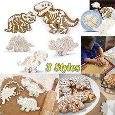 3D Dinosaur Cookies Cutter Biscuit Embossing Mold Dessert Baking Cake DecorTool