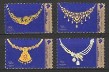 SINGAPORE 2017 WEDDING JEWELLERY COMP. SET OF 4 STAMPS MINT MNH UNUSED CONDITION