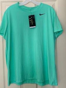 NWT Nike Dri-FIT Training Legend Women's XXL Green Glow Short Sleeve T-shirt