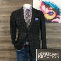 Kenneth Cole Mens Sport Coat Blazer Wool Two Button Sport Jacket Size L 42R