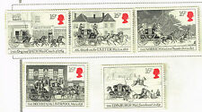 UK Bath-Bristol-London Mail Coach Bicentenary set 1984 MNH