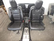10-15 CHEVROLET CAMARO FRONT REAR SEAT CONSOLE BLACK LEATHER HEAT POWER CONV
