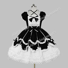 Victorian Reenactment Sweet Lolita Gothic Puck Frill Lace Dress Clothing Costume