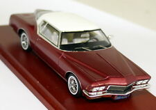 TSM 1/43 Scale - 114332 1971 Buick Riviera Metallic Red / White Resin model car