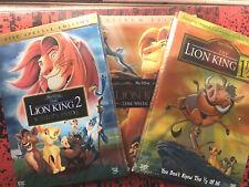 The lion king DVD 1, 1 & 1/2, 2 Trilogy Set