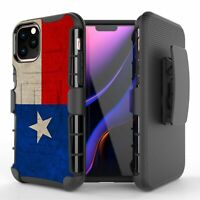 TEXAS Flag Hybrid Armor Belt Clip Rugged Phone Case iPhone 11 XS MAX XR 8 7 6 6+