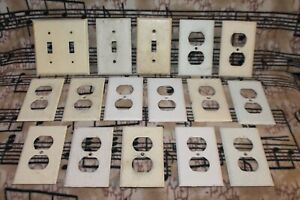 OUTLET Covers PAINTED METAL Singles DOUBLES Light Switch PLATES Vintage WHITE