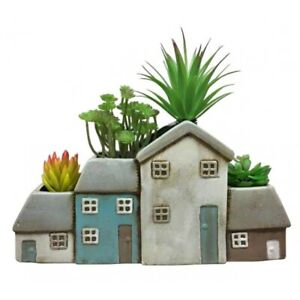 Quirky Ceramic Planter Plant Pot Flower Display Seaside Cottages Nautical