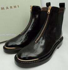Marni Black Leather Ankle Boots EU36 UK3 Perfect gift New