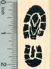 Hiking Footprint Rubber Stamp, Left Boot Tread or Track E30325 WM