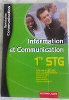 2008 Informazioni & Comunicazione 1ère Stg M.G B.Lacoste Parigi IN Folio Tbe